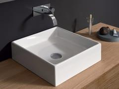 Lavabo da appoggio quadrato in ceramica CANALE | Lavabo quadrato - Canale