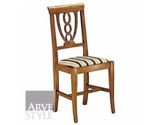 Sedia in legno massello con schienale aperto CANALETTO | Sedia con schienale aperto - Canaletto