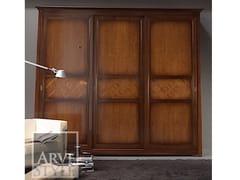 Armadio in legno massello con ante scorrevoli NAIMA | Armadio con ante scorrevoli - Naima
