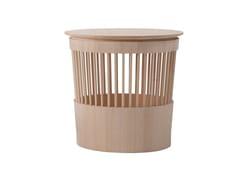 Sgabello / contenitore in legno masselloCANESTRO - TONUCCIMANIFESTODESIGN BY TONUCCIDESIGN
