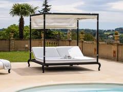 Letto da giardino reclinabile a baldacchino con parasoleCANOPO | Letto da giardino reclinabile - DFN