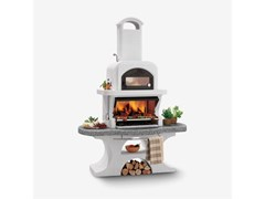 Barbecue a carbonella a legna in cementoCAPRI - PALAZZETTI LELIO