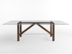 Tavolo rettangolare in legno e vetro CAPRIATA GLASS -