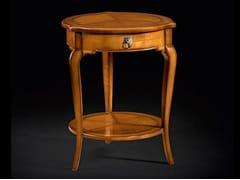 Tavolino rotondo in legno con portarivisteCAPRICCI   Tavolino rotondo - PRESTIGE