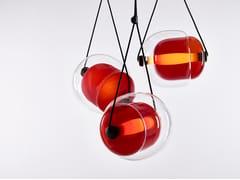 Lampada a sospensione a LED in vetro soffiatoCAPSULA - BROKIS