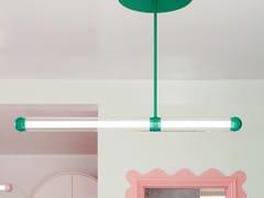 Lampada a sospensione a LED in alluminio verniciato a polvere CAPSULE SALDO -
