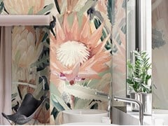 Wallpepper Group, CARDI Carta da parati tropicale PVC free, eco-friendly, lavabile