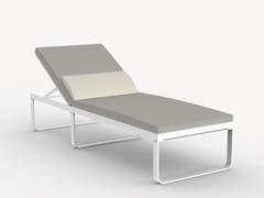Lettino da giardino reclinabile in alluminioCARINA - CIELA MARE