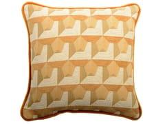 Cuscino quadrato in cotone a motivi geometriciCARRE' 220-19 - L'OPIFICIO