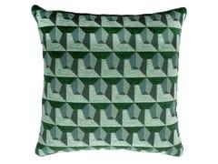 Cuscino quadrato in cotone a motivi geometriciCARRE' 472-19 - L'OPIFICIO