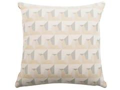 Cuscino quadrato in cotone a motivi geometriciCARRE' 477-19 - L'OPIFICIO