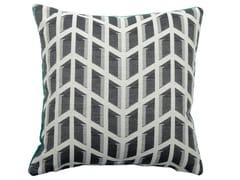 Cuscino quadrato in cotone a motivi geometriciCARRE' 557-19 - L'OPIFICIO