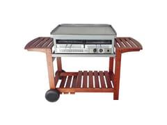 Barbecue a gas da incasso o appoggioCARRELLO CHEF IN LEGNO PER BBQ CITY E SHARK 50-80 - IL BRACERE