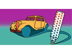 Carta da parati adesiva pop art CARS - CREATIVESPACE
