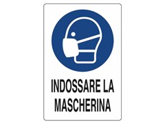 Cartellonistica CARTELLO INDOSSARE LA MASCHERINA - FT