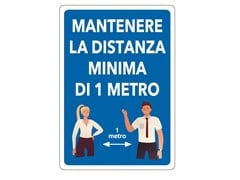 Cartellonistica CARTELLO MANTENERE DISTANZA - FT