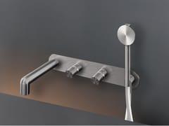 Miscelatore per vasca a muro in acciaio inox con doccettaCARTESIO 51Y - CEADESIGN