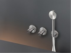 Gruppo 2 miscelatori a parete per vasca/doccia con doccettaCARTESIO 54Y - CEADESIGN