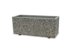 Fioriera realizzata in conglomerato di marmo e cementoCASABLANCA - BONFANTE