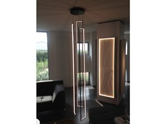 Lampada a sospensione a LED a luce indirettaCASCADE MIRÉ - 3 - CINIER RADIATEURS CONTEMPORAINS