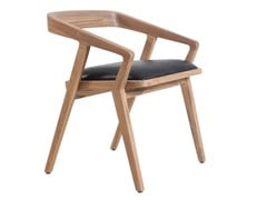 Sedia in teak con cuscino integrato CASILLA | Sedia in teak -