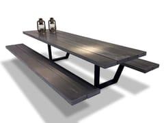 Tavolo da picnic con panchine integrateCASSECROUTE TABLE CONCRETE - CASSECROUTE