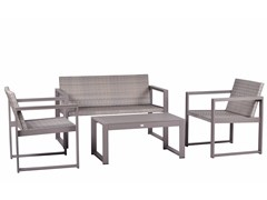 Mediterraneo by GPB, CASSIA WICKER Lounge set da giardino in alluminio