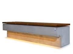 Panchina in calcestruzzo con illuminazione integrata senza schienaleCASSIOPEA - CALZOLARI