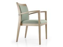 Sedia impilabile in pelle con braccioli CASSIS | Sedia con braccioli - Cassis