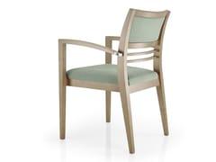 Sedia in pelle con braccioli con schienale aperto CASSIS | Sedia con braccioli - Cassis