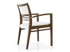Sedia in tessuto con braccioli con schienale aperto CASSIS | Sedia con braccioli - Cassis