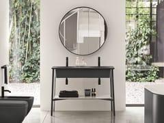 Mobile lavabo doppio da terraCATINO DOPPIO - CERAMICA CIELO