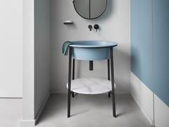Mobile lavabo da terra singolo CATINO OVALE - I Catini