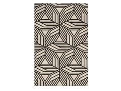 Tappeto fatto a mano rettangolare in tessuto in stile moderno a motivi geometriciCAUCA - BRABBU