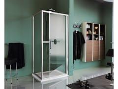Box doccia rettangolare in vetro temperato con porta a battente CEE ART | Box doccia con porta a battente - Classica