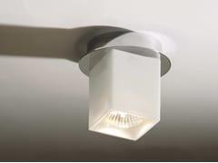 Top Light, CEILING QUADRO Lampada da soffitto alogena in vetro