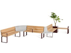 Nola Industrier, CENTRAL Panchina modulare in acciaio e legno