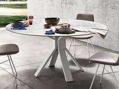Tavolo da pranzo rotondo in marmo CENTRO | Tavolo rotondo -