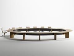 Tavolo da riunione modulare ovale in legno impiallacciatoCEO | Tavolo da riunione ovale - BK CONTRACT EQUIPMENT