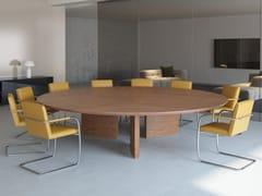 Tavolo da riunione modulare rotondo in legno impiallacciatoCEO | Tavolo da riunione rotondo - BK CONTRACT EQUIPMENT