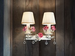 Lampada da parete a luce diretta in ceramica con cristalli CERAMIC GARDEN A2 - Ceramic Garden