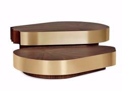 Tavolino da caffè in legno impiallacciato CERNE | Tavolino da caffè - Earth to Earth