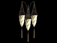 Lampada da parete in seta CESENDELLO TRIPLE ARC WALL   Lampada da parete in seta - SILK LAMPS