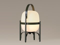 LAMPADA DA TAVOLO A LED SENZA FILI IN ALLUMINIO E VETROCESTITA ALUBAT | LAMPADA DA TAVOLO - SANTA & COLE NEOSERIES