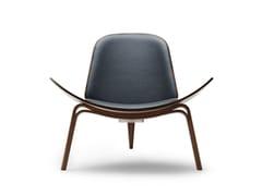 Poltroncina imbottita in legno masselloCH07   Shell Chair - CARL HANSEN & SØN MØBELFABRIK A/S