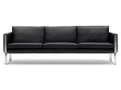 Divano imbottito in pelle a 3 postiCH103   Sofa - CARL HANSEN & SØN MØBELFABRIK A/S