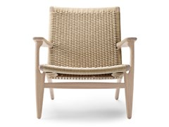 Poltroncina in corda con braccioliCH25   Lounge Chair - CARL HANSEN & SØN MØBELFABRIK A/S