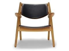 Poltroncina imbottita in legno massello con braccioliCH28P | Lounge Chair - CARL HANSEN & SØN MØBELFABRIK A/S