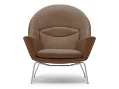Poltroncina imbottita in acciaio con braccioliCH468 | Oculus Chair - CARL HANSEN & SØN MØBELFABRIK A/S