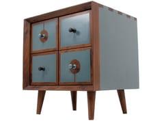 Comodino quadrato in legno CHAAR CHAURAS MINI | Comodino quadrato - Chaar Chauras